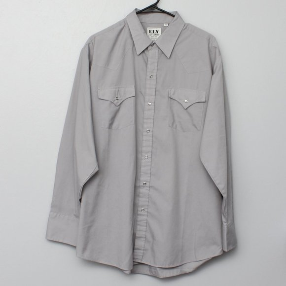 Ely Cattleman pearl snap western button up shirt